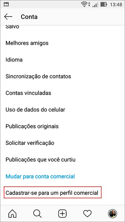 """c5eae0a4a9 Passo 03: Duas novas opções serão abertas: """"Criar nova conta"""" e """"Converter  conta existente""""."""